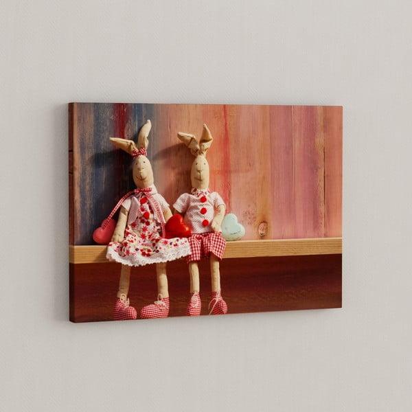 Obraz Plyšáci spolu, 50x70 cm