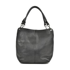 Černá kožená kabelka Anna Luchini Sally