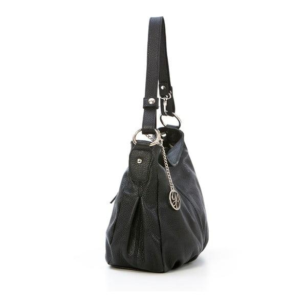 Kožená kabelka Stefano, černá