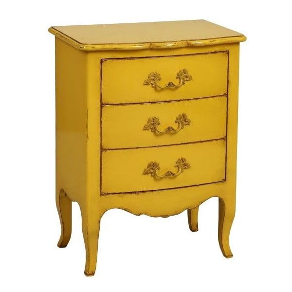 Komoda Tivoli Yellow, 58x78x38 cm