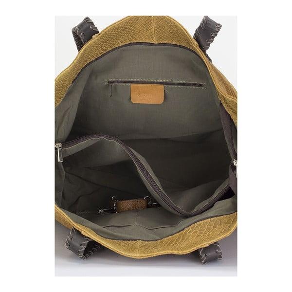 Kožená kabelka Piton, koňaková