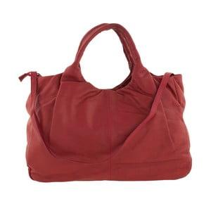 Červená kožená kabelka Tina Panicucci Zula