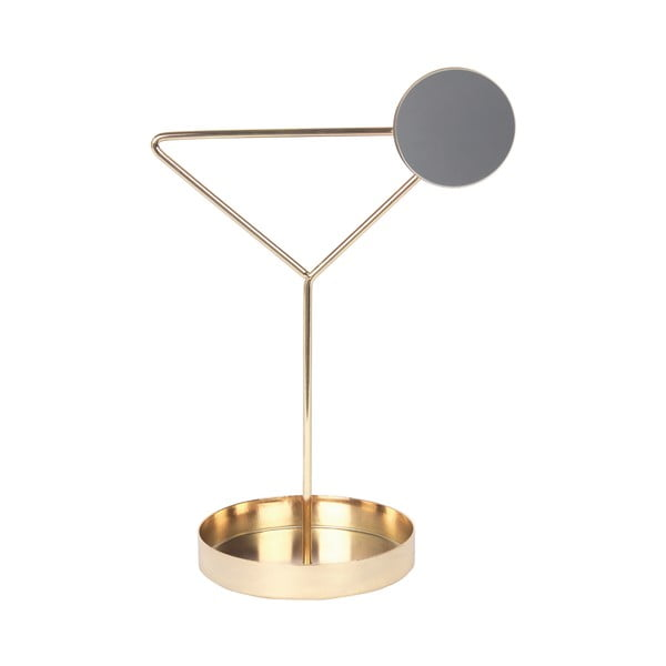 Suport pentru bijuterii DOIY Coctail, înălțime 26 cm, auriu