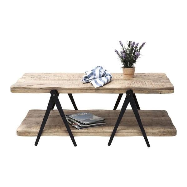 Konferenční stolek z mangového dřeva a kovu Kare Design Scissors, 120 x 65 cm