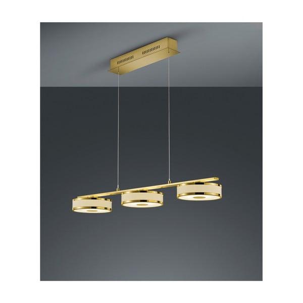 Lustră LED Trio Agento, lungime 90 cm, auriu
