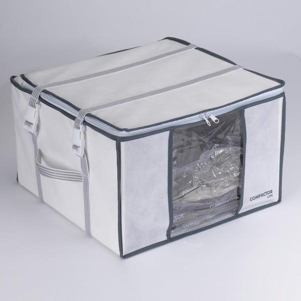 Bíly úložný box s vakuovým obalem Compactor Black Edition, objem 125 l