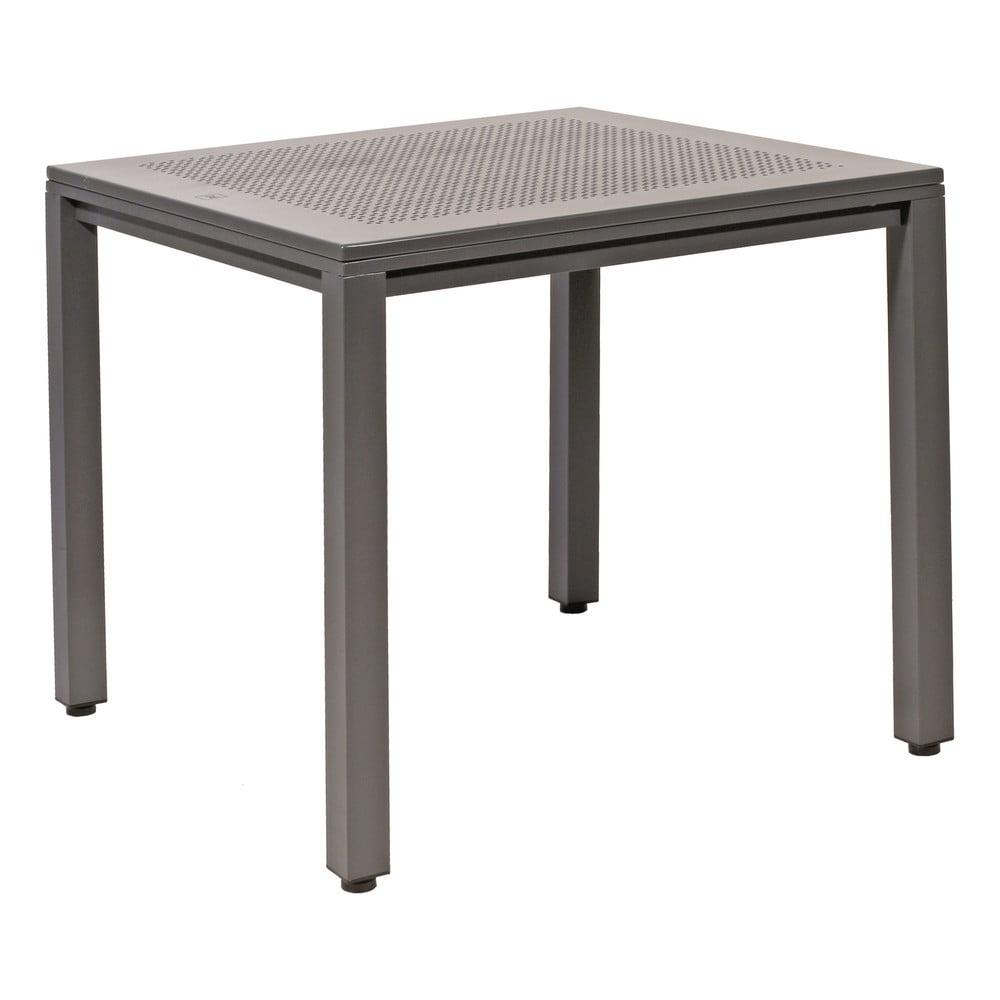 Šedý zahradní hliníkový stůl Resol Born, 80 x 80 cm