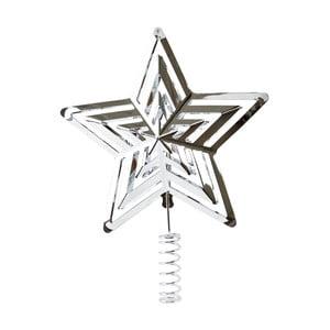 Hvězda na vánoční stromek ve stříbrné barvě KJ Collection