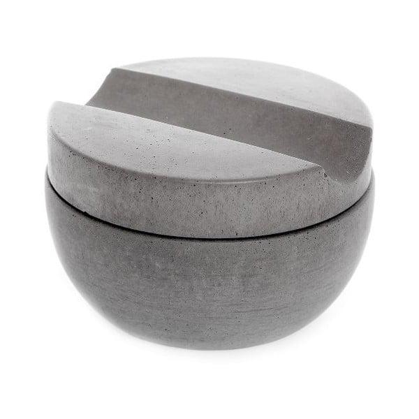 Szara betonowa miska do golenia z mydłem o zapachu sandałowca Iris Hantverk