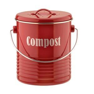 Červený kuchyňský kompostér Typhoon Vintage Caddy