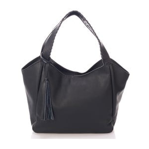 Černá kožená kabelka Giulia Massari Lora