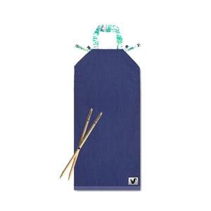 Modré plážové lehátko Origama Palms