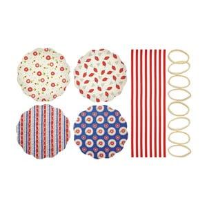 Sada 8 textilních ozdob na zavařovačky KitchenCraftHeart