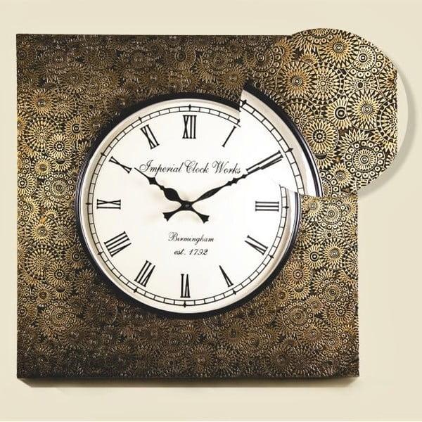 Nástěnné hodiny Tepaný rám