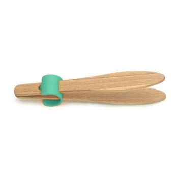 Cleşte din lemn de fag pentru pâine, cu detalii verzi Jean Dubost Handy, lungime 15 cm de la Jean Dubost