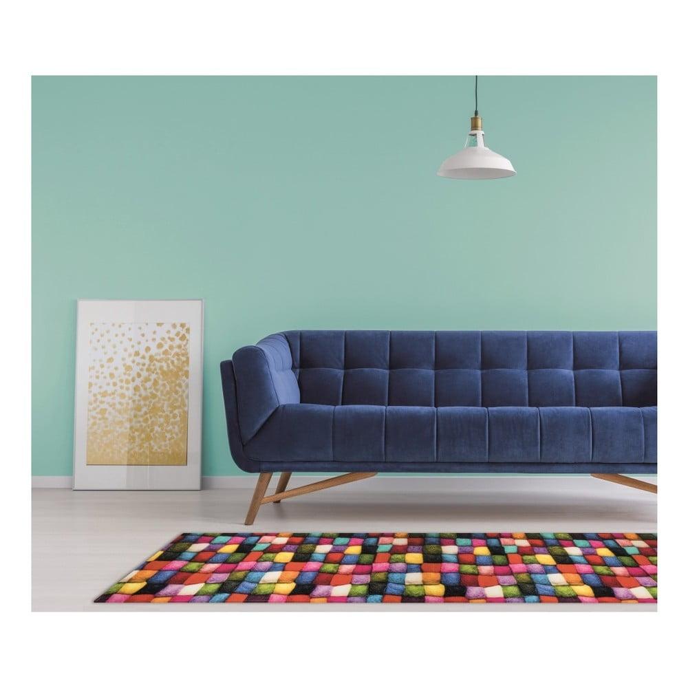 Vysoce odolný koberec Webtappeti Batuffoli, 58 x 115 cm