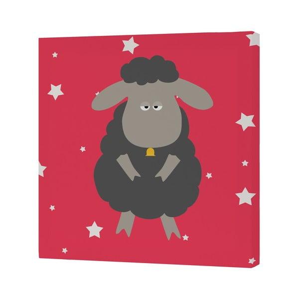 Nástěnný obrázek Black Sheep, 27x27 cm