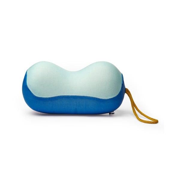 Niebieska poduszka podróżna z pamięcią kształtu Kikkerland Neck