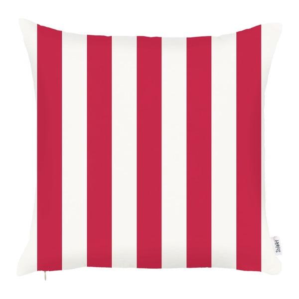 Červený povlak na polštář Apolena Stripes, 43x43cm