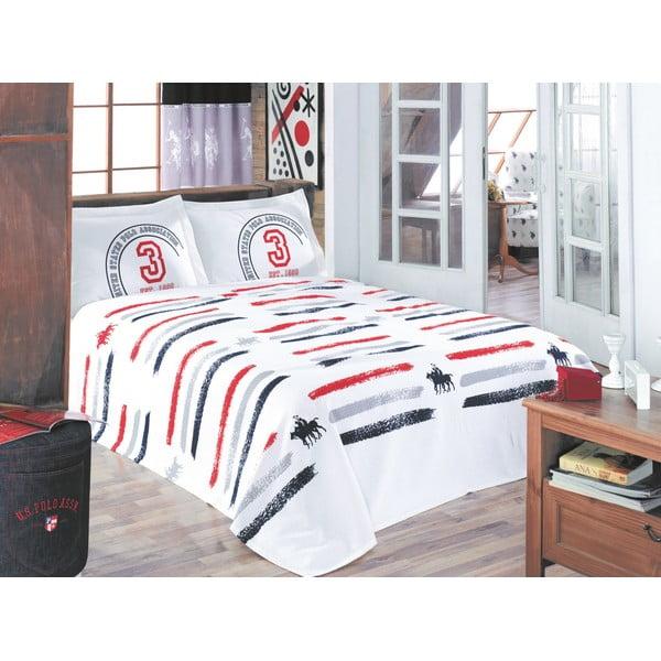 Sada přehozu přes postel a prostěradla U.S. Polo Assn. Monroe, 200x220 cm