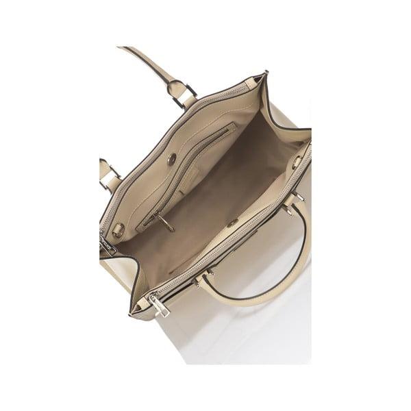 Béžová kožená kabelka Krole Klaudie