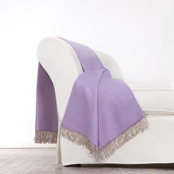 Vlněný pléd Rialto 130x180 cm, fialový