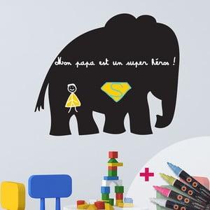 Set popisovací samolepky a 4 fixů Ambiance Elephant