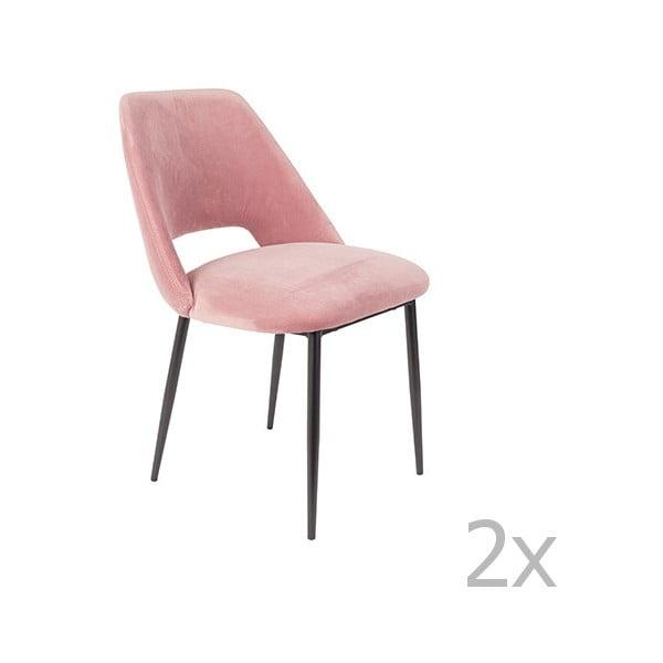 Sada 2 růžových židlí White Label Cinderella