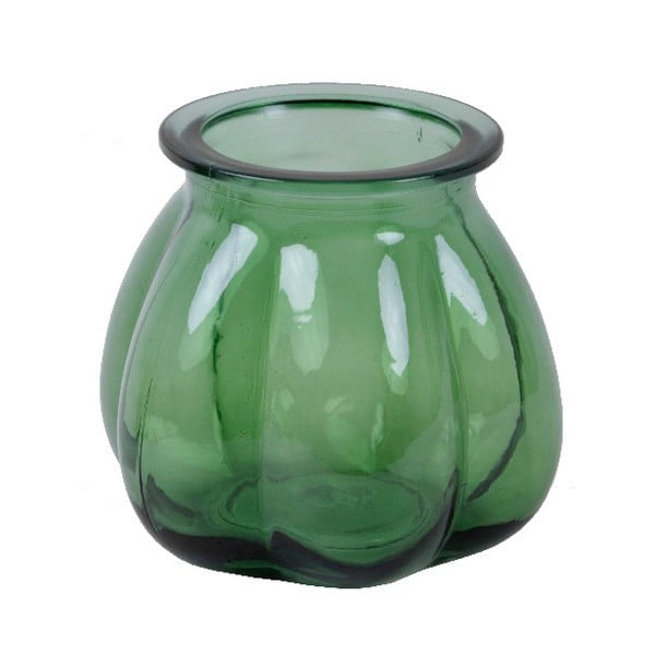 Zelená váza z recyklovaného skla Ego Dekor Tangerine, výška 16 cm