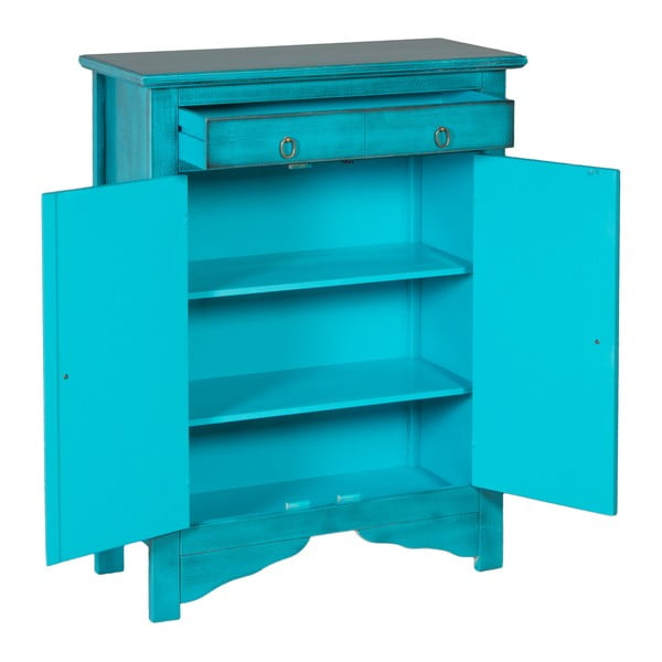 Modrá vysoká komoda Evergreen House Credenza
