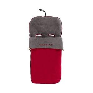 Červený zimní fusak na dětský kočárek Naf Naf Liso