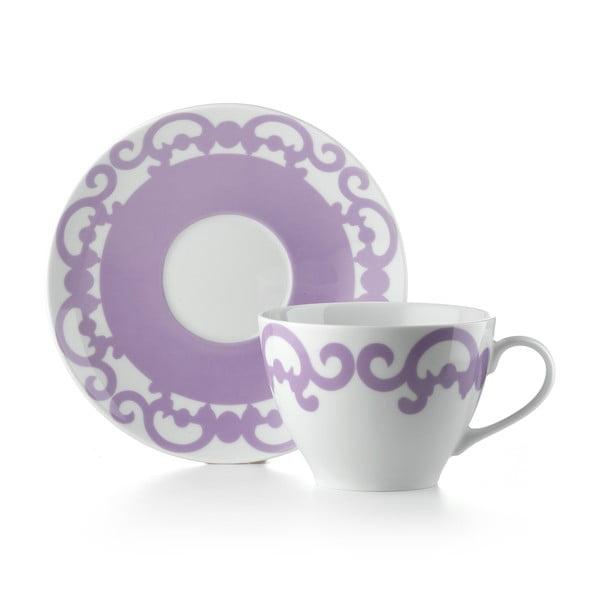 Hrnek s talířkem Arabesco Violet