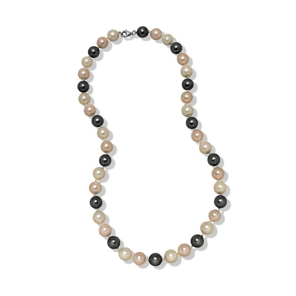Růžovošedý náhrdelník Mara de Vida Perldor, délka 50cm