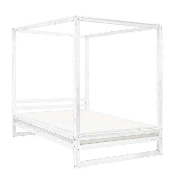 Bílá dřevěná dvoulůžková postel Benlemi Baldee, 190x180cm