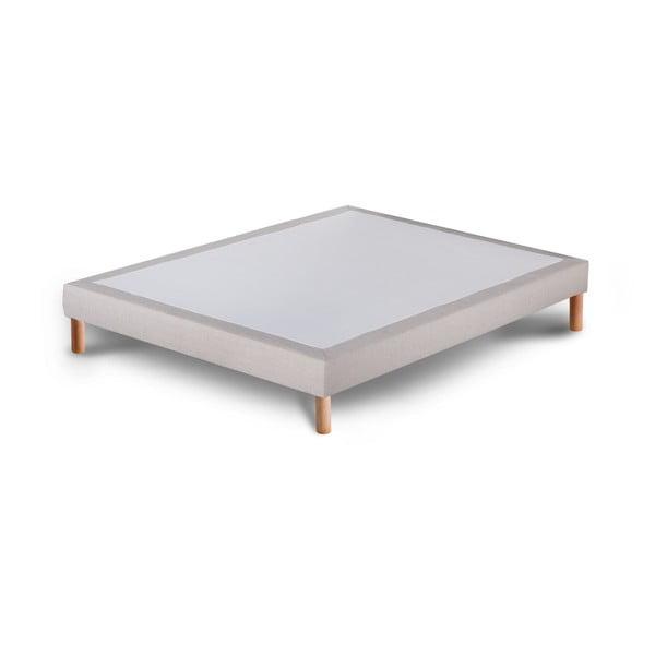 Jasnoszare łóżko kontynentalne Stella Cadente Maison, 140x200 cm
