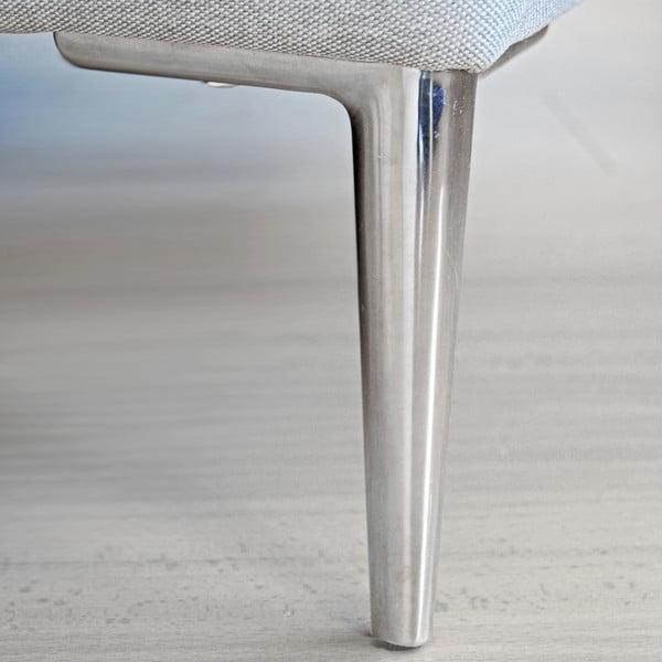 Křeslo Miura Musa, šedý textilní potah