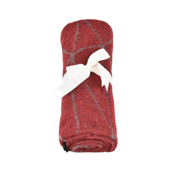 Červený dámský šál s příměsí bavlny Dolce Bonita Sky, 170 x 90 cm