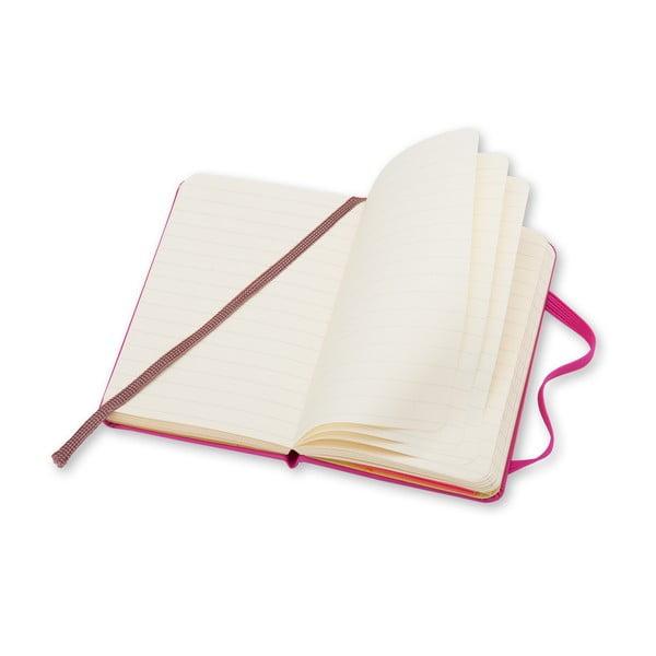 Růžový zápisník Moleskine XS, linkovaný