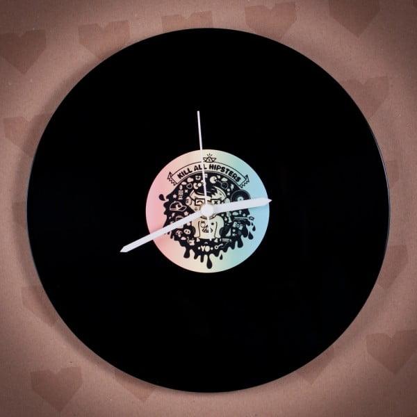 Vinylové hodiny Hipster