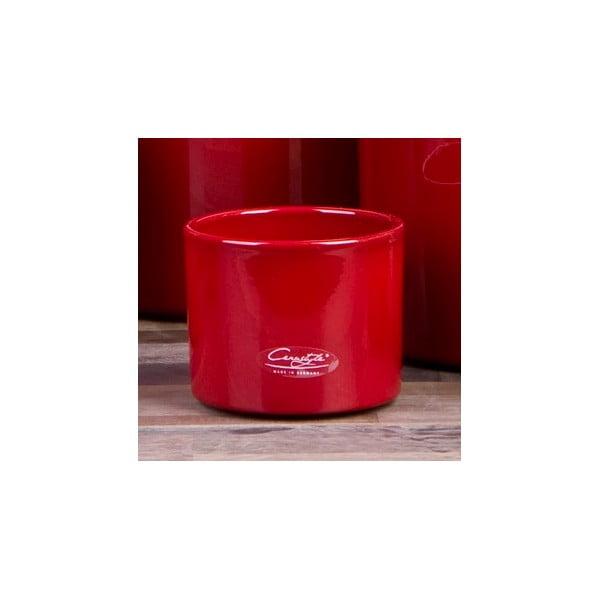 Sada 3 červených květináčů Ovale, 11 cm