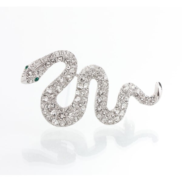 Brošňa s krištáľmi Swarovski Elements Laura Bruni Serpent