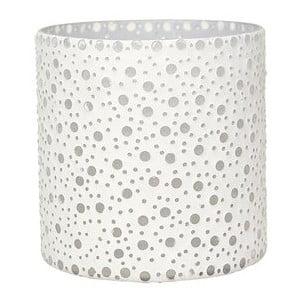 Svícen Dots in White, 16,5 cm