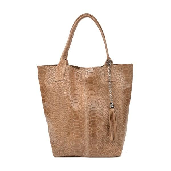 Světle hnědá kožená dámská kabelka Renata Corsi Michela