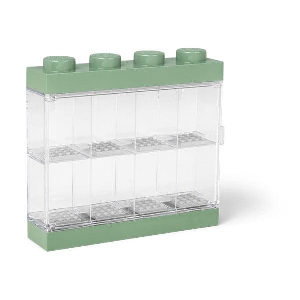 Zelenobílá sběratelská skříňka na 8 minifigurek LEGO®