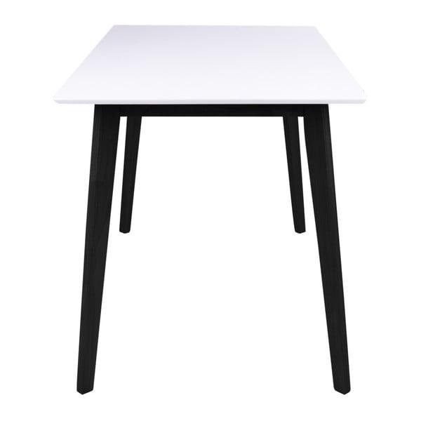 Jídelní stůl s bílou deskou a černýma nohama z kaučukového dřeva House Nordic Vojens, 120x70cm