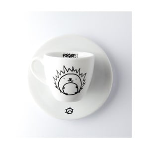 Hrneček na espresso s podšálkem FOR.REST Hedgehog,100ml