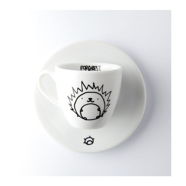 Hrneček na espresso s podšálkem FOR.REST Design Hedgehog,100ml