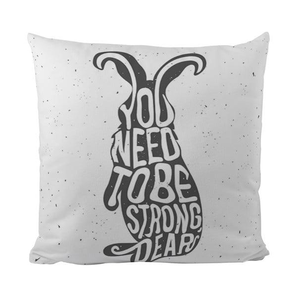 Polštářek Black Shake Strong Bunny, 50x50 cm