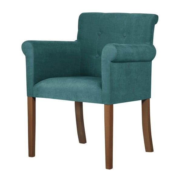 Flacon türkiz bükk szék sötétbarna lábakkal - Ted Lapidus Maison