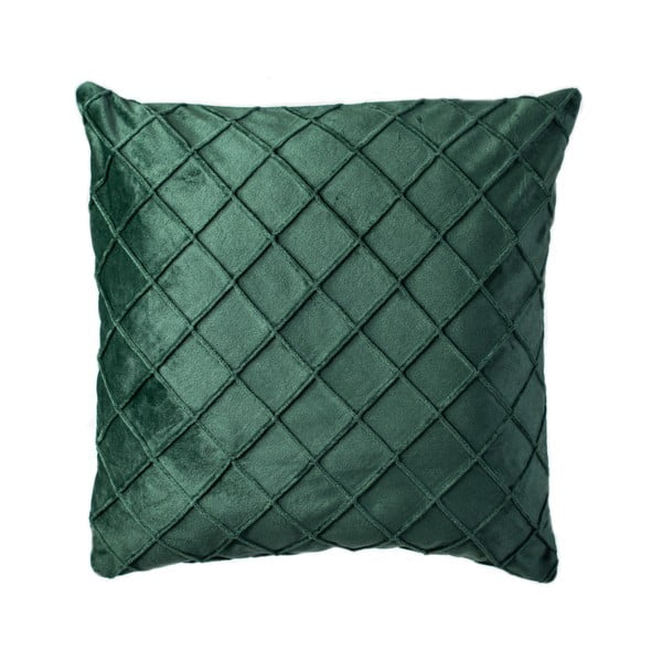 Ciemnozielona poduszka JAHU Alfa, 45x45 cm